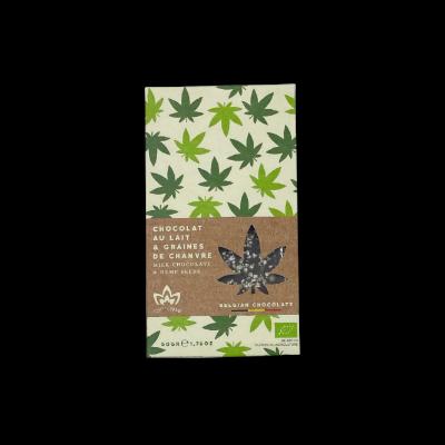 Tablette de chocolat au lait graines de chanvre