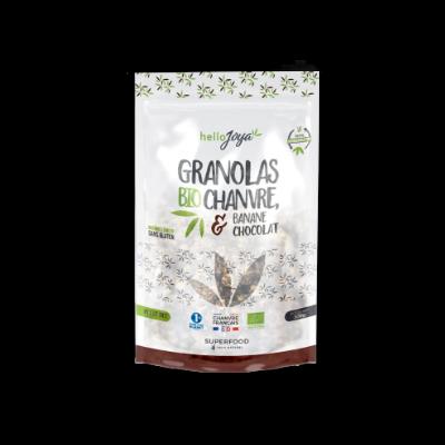 Granolas BIO au Chanvre goût banane chocolat