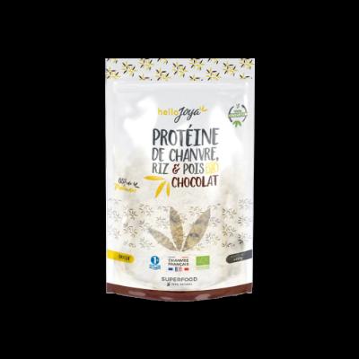 Proteine de chanvre riz et pois chocolat