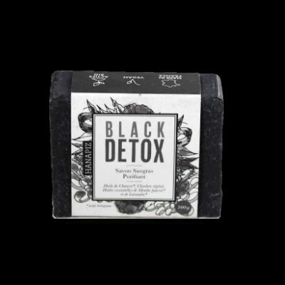 Savon solide Black Detox au chanvre